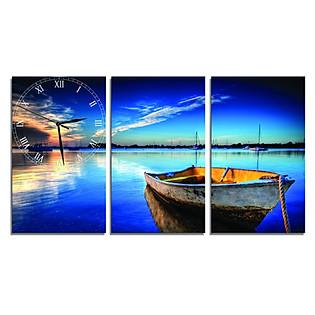 Tranh Đồng Hồ Vicdecor DHT0129 - Cảnh Biển Hoàng Hôn