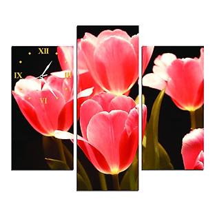 Tranh Đồng Hồ Vicdecor DHT0133 - Những Cánh Hoa