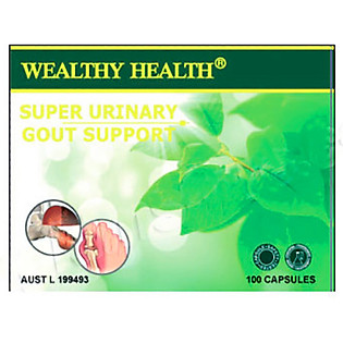 Thực Phẩm Chức Năng Viên Trị Gút WEALTHY HEALTH  SUGS100 SUPER Uninary Goutsuport -GIC (400 Viên )