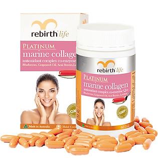 Thực Phẩm Chức Năng Viên Uống Chiết Xuất Từ Sinh Vật Biển Lanopearl Rebirth Collagen (60 Viên) RL06