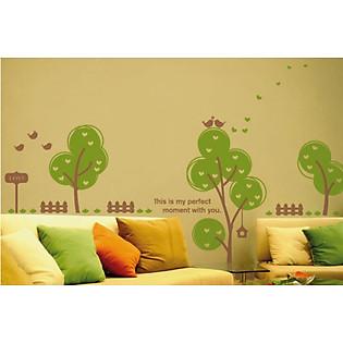 Decal Dán Tường Ninewall Love Tree BT006
