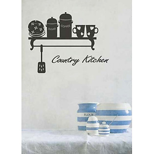 Decal Dán Tường Ninewall Country Kitchen DK005