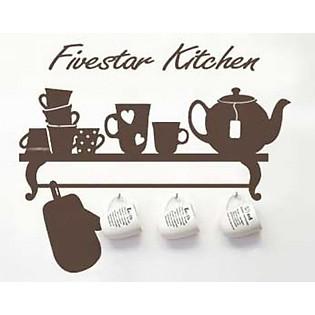 Decal Dán Tường Ninewall Fivestar Kitchen DK009