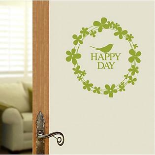 Decal Dán Tường Ninewall Happy Day W44