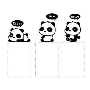 Decal Trang Trí Ổ Cắm Điện Ninewall Hello Panda W448