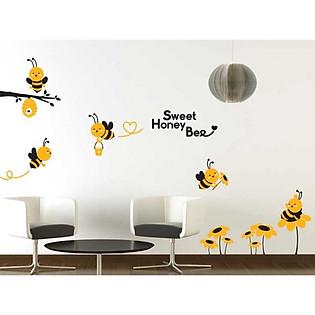 Decal Dán Tường Ninewall Bee Story BA037
