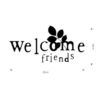 Decal Dán Tường Ninewall Welcome W567