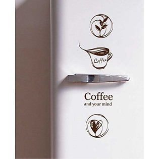 Decal Dán Tường Ninewall Wake Up Coffee DC003