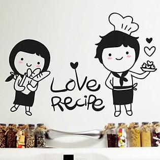 Decal Dán Tường Ninewall Love Recipe W610