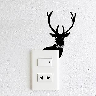 Decal Trang Trí Ổ Cắm Điện Ninewall Deer W620
