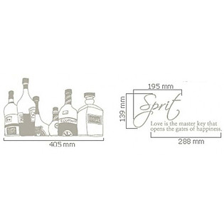 Decal Dán Tường Ninewall Wine Bottle DK010