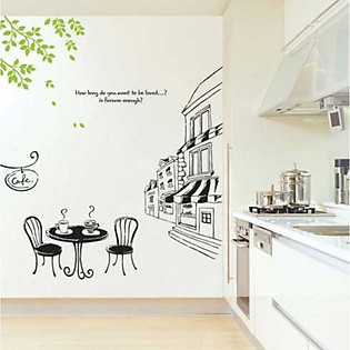 Decal Dán Tường Ninewall Coffee Shop FH018