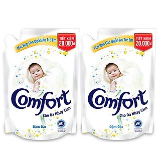 Combo 2 Nước Xả  Vải Comfort Đậm Đặc Cho Da Nhạy Cảm (Túi 1.6L )