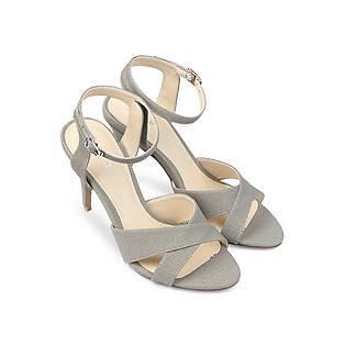 Giày Sandal Cao Gót 9Cm Quai Ngang Juno SD09013 - Xám
