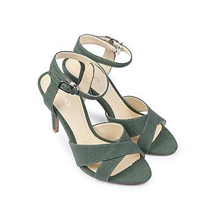 Giày Sandal Cao Gót 9Cm Quai Ngang Juno SD09013 - Xanh Lá