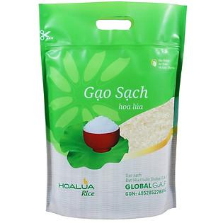 Gạo Sạch Hoa Lúa (Nhãn Xanh) - 5Kg