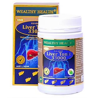 Thực Phẩm Chức Năng Viên Uống Bổ Gan Giải Độc WEALTHY HEALTH Liver Tonic 33.000 Mg -GIC ( 100 Viên)