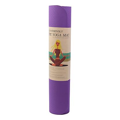Thảm Yoga TPE 2 Lớp Tiến Sport (6mm) - Màu Ngẫu Nhiên - Tặng Kèm Túi Đ...