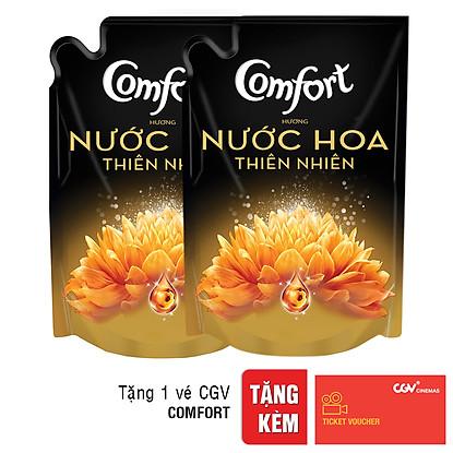 Combo 2 Túi Nước Xả Vải Comfort Hương Nước Hoa SOPHIA 1.6L – cho phụ nữ