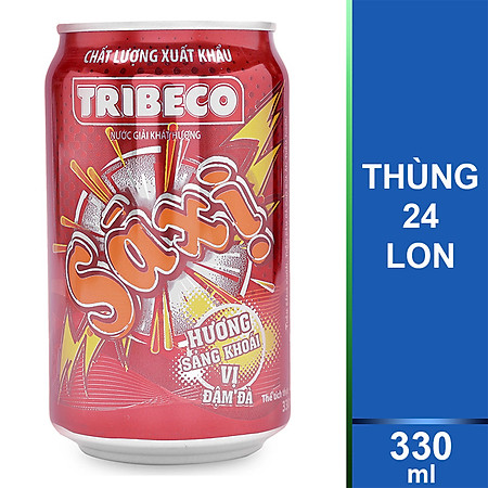 Thùng 24 Lon Nước Ngọt Xá Xị Tribeco 330ml- Tết