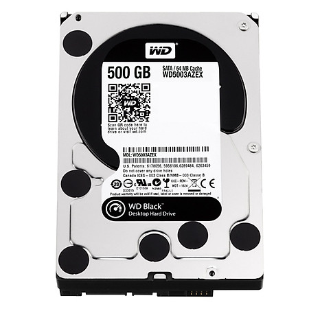 Ổ Cứng Trong PC WD 500GB (64MB) 7200rpm 3.5″ Black™