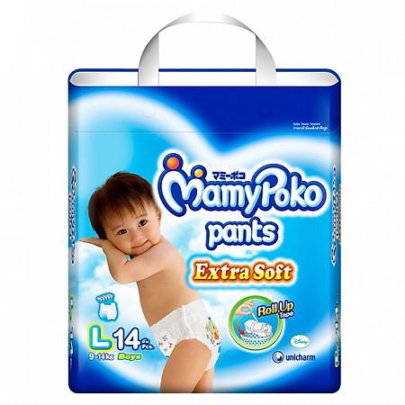 Tã Quần Bé Trai Mamypoko Gói Nhỏ L14