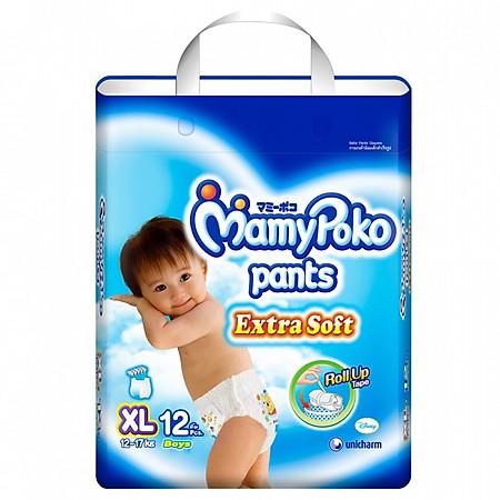 Tã Quần Bé Trai Mamypoko Gói Nhỏ XL12