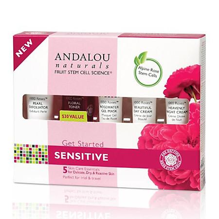 Trial Kit Andalou Naturals 1000 Roses™ Chăm Sóc Da Nhạy Cảm - 25530