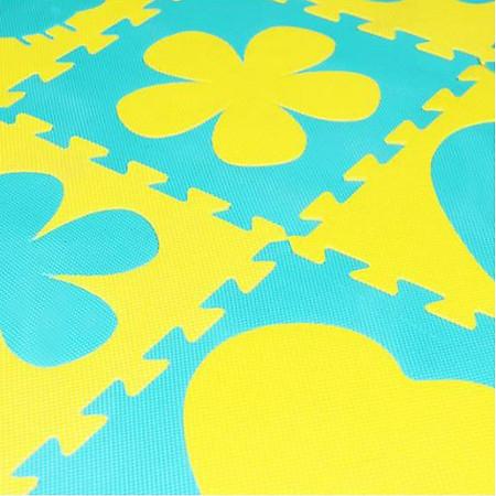 Bộ 12 Miếng Thảm Cao Su Phước Thành 4 Hình (30 x 30 cm)