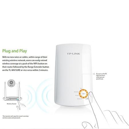 TP-LINK TL-WA750RE - Bộ Mở Rộng Sóng WiFi Tốc Độ 150Mbps