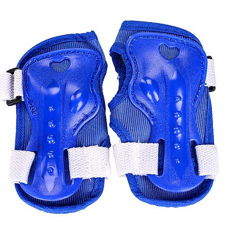 Combo Găng Tay +  Mũ Bảo Hiểm + Giày Patin PTB - PT01- Màu Xanh