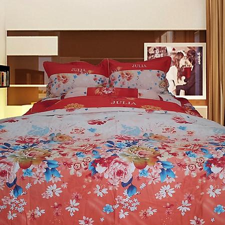 Bộ Chăn Ga Gối Cotton Satin Chần Gòn Hàn Quốc Julia 494BC18-1m8 x 2m