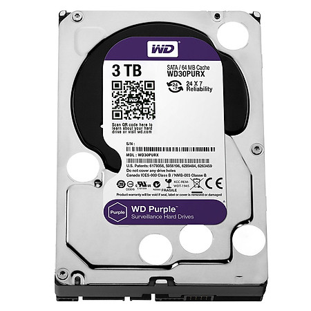 Ổ Cứng Trong PC WD 3TB (64MB) 3.5″ Purple™