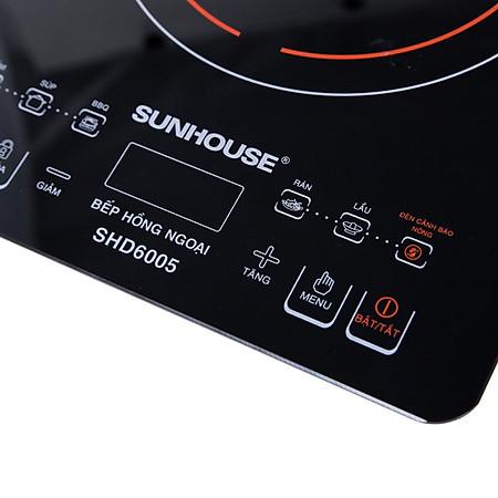 Bếp Hồng Ngoại Cảm Ứng Sunhouse SHD6005 (Kèm Vỉ Nướng)