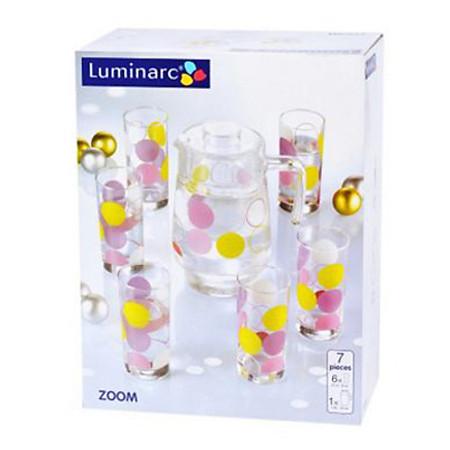 Bộ Bình Ly Thủy Tinh Luminarc 7 Món Zoom G7170