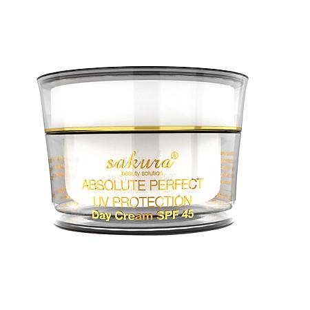 Kem Trị Nám Trắng Da Ban Ngày Sakura Absolute Perfect UV Protection Day Cream SPF45 (30g)