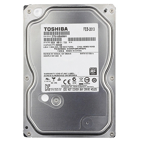 Ổ Cứng Trong PC Toshiba AV 500GB - 3.5″/SATA3/5700rpm/ 32MB