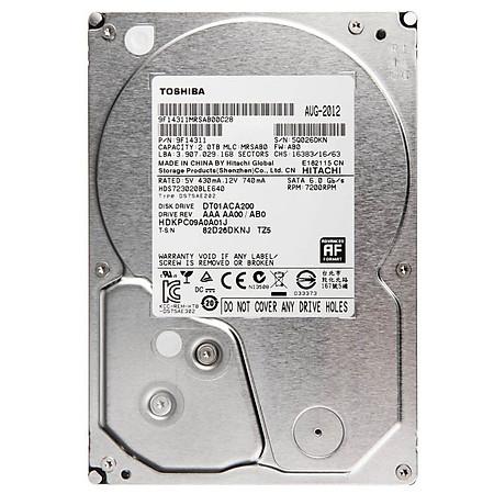 Ổ Cứng Trong PC Toshiba 2TB - 3.5″/SATA3/7200rpm/64MB