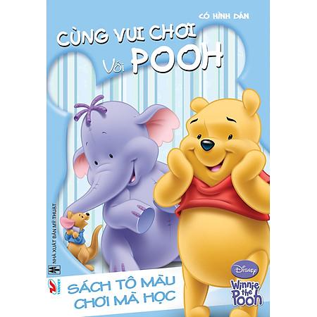 Sách Tô Màu Gấu Pooh - Cùng Chơi Với Pooh (Khổ Lớn)