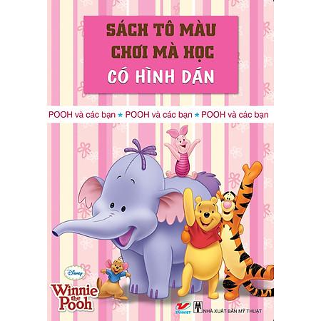 Sách Tô Màu Gấu Pooh - Pooh Và Các Bạn (Khổ Lớn)