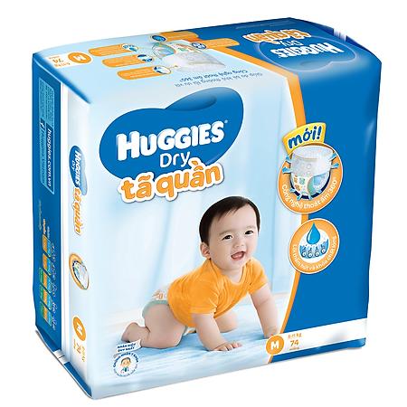 Combo 2 Tã Quần Huggies Dry Pants Gói Cực Đại Size M (74 miếng)