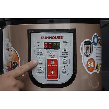 Nồi Áp Suất Điện Tử Đa Năng Sunhouse SHD1768 (6L) - Đen