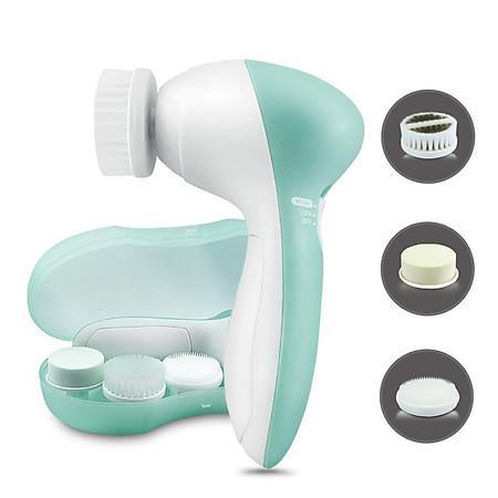 Bộ Dụng Cụ Touch Beauty Mát Xa Và Chăm Sóc Da 3in1 AS-0525A (Xanh trắng)