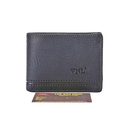 Ví Nam Da Thật Cao Cấp Da Giày Việt Nam VNLDB1TK08 - Đen