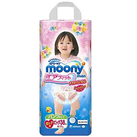 Tã Quần Bé Gái Moony XL38