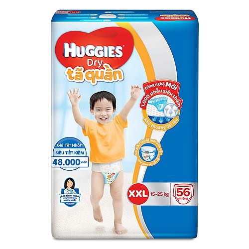 Tã dán Huggies Dry Super Jumbo XXL56 (Trên 14kg) - Gói 56 miếng