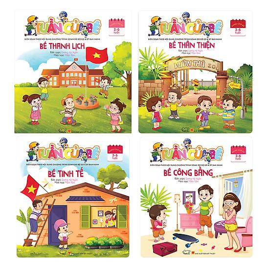 Combo Tuần Của Bé  (Trọn Bộ 4 Cuốn) (Dành Cho Trẻ 3 - 6 Tuổi)