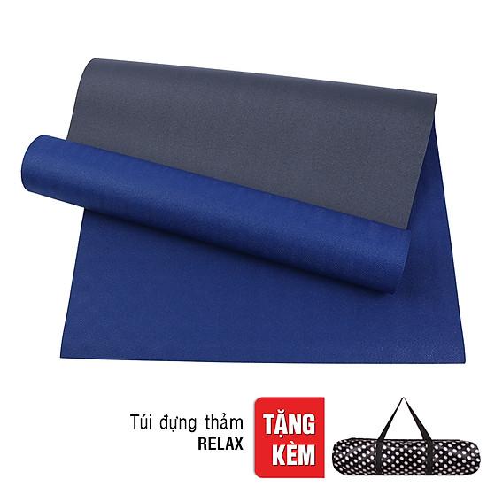 Thảm Tập Yoga 2 Lớp Có Túi Đeo Sportslink TPE RELAX-6MM-2L-COBAN - Xan...