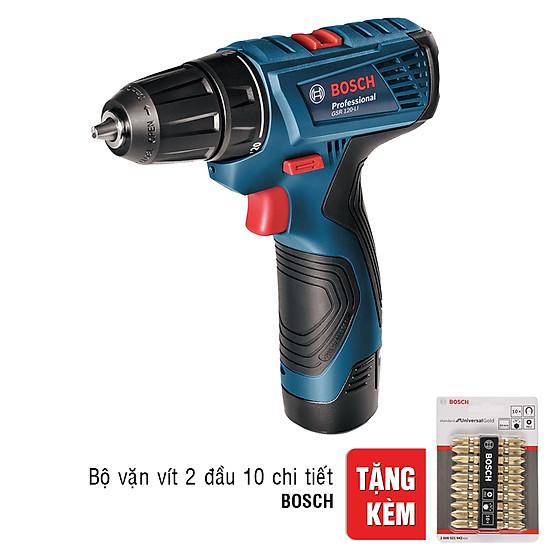 Máy Khoan Vặn Vít Dùng Pin Bosch GSR 120-LI (Tặng Bộ Mũi Vặn Vít 2 Đầu...