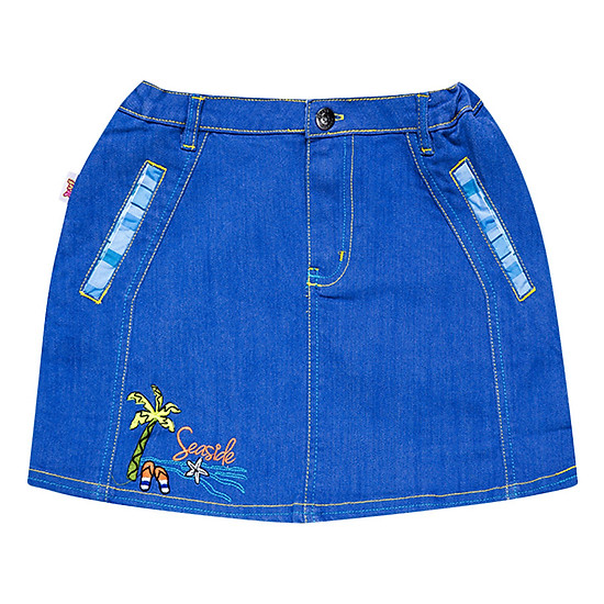 Váy Chữ A Trang Trí Đôi Dép YF 6VX146 - Xanh Jean